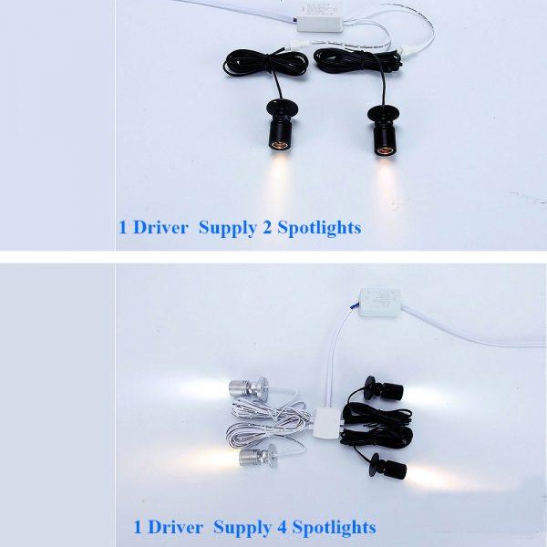 SL0103 Spotlight 1driver supply 4 light