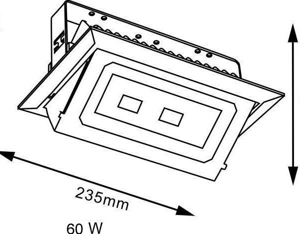 60w led gimbal light size