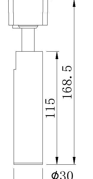 PS-TL03 D30 mini LED track light black size